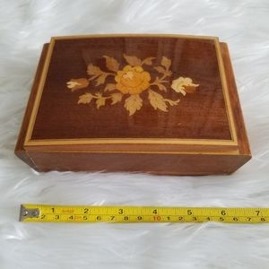 Italian wood inlay music box